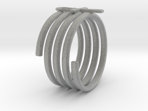 Spiral Ring in Metallic Plastic