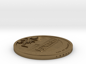 Old 2013 Lunaro Coin. in Natural Bronze