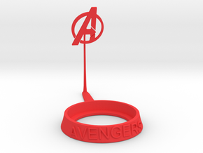 Avengers Shadow Tea-Light Holder in Red Processed Versatile Plastic