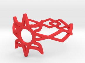 Solar Flare Ring Size 11 in Red Processed Versatile Plastic