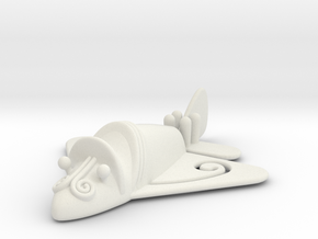 "Pre-Colombian ""airplane"" in White Natural Versatile Plastic"