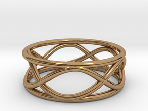 Infinity Ring- Size 6 in Polished Brass