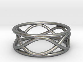 Infinity Ring- Size 5 in Natural Silver