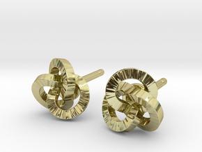 Trefoil Earrings in 18k Gold