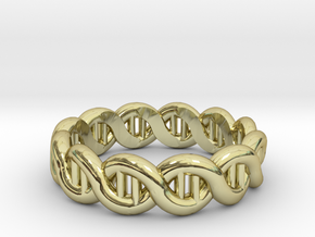 DNA sz19 in 18k Gold Plated Brass