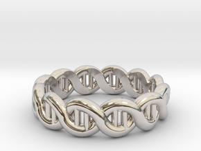 DNA sz19 in Rhodium Plated Brass
