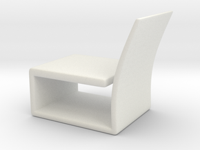 Chair No. 17 in White Natural Versatile Plastic