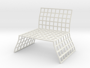 Chair No. 10 in White Natural Versatile Plastic