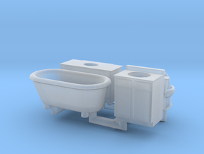 Bathroom details N Scale in Smooth Fine Detail Plastic