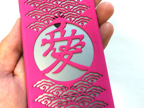Chinese character Love 愛 iPone6 case in Pink Strong & Flexible Polished