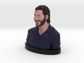 Keanu Reeves Happy Bust in Full Color Sandstone