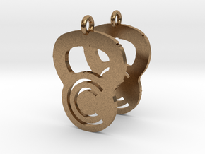 Crossfit Commence Earrings in Natural Brass