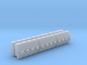Gothic Spaceship Gun Battery Module V2 in Smooth Fine Detail Plastic