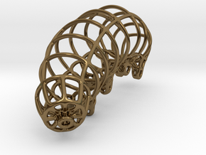 Wireframe Tardigrade in Polished Bronze