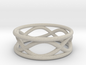 Infinity Ring- Size 7 in Natural Sandstone