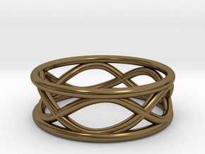 Infinity Ring- Size 7 in Polished Bronze