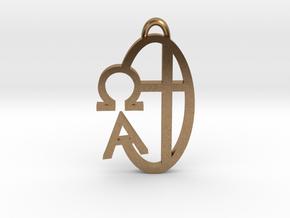 Alpha Omega - Pendant in Natural Brass