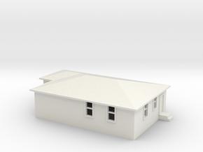 N Scale Australian House #2B in White Natural Versatile Plastic