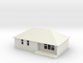 N Scale Australian House #1B in White Natural Versatile Plastic