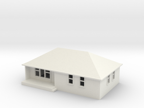N Scale Australian House #1B-M in White Natural Versatile Plastic