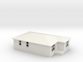 N Scale Australian House #2B-M in White Natural Versatile Plastic