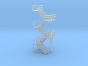 N Scale Staircase 57.4mm in Smooth Fine Detail Plastic