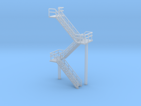 N Scale Staircase 60.4mm in Smooth Fine Detail Plastic