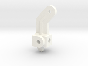 Steering Spindle, Inline in White Processed Versatile Plastic