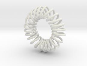 Herz Band Ring 10 Inn in White Natural Versatile Plastic
