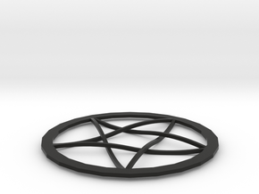 Pentagram Pendent in Black Natural Versatile Plastic