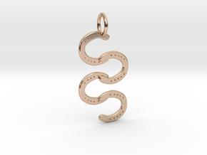 Horse Shoe pendant in 14k Rose Gold