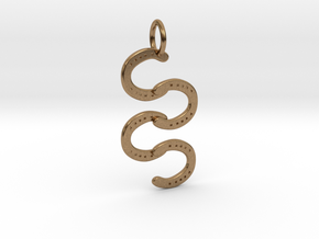 Horse Shoe pendant in Natural Brass