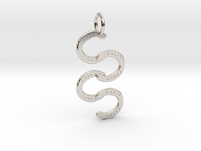 Horse Shoe pendant in Rhodium Plated Brass