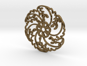 Flower in Polished Bronze