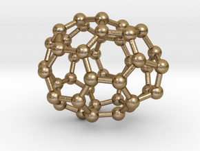 0233 Fullerene C42-12 cs in Polished Gold Steel
