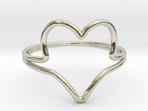 Wire Heart Ring (Size 7) in 14k White Gold