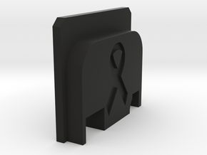 Bbu Backplate Ribbon in Black Natural Versatile Plastic