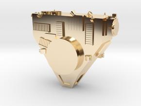 New Horizons Probe Body in 14K Yellow Gold