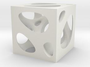 Voronoi Brush Pot in White Natural Versatile Plastic