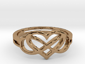 Forever Love Ring Ring Size 7 in Polished Brass