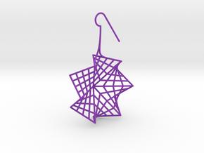flower (medium_left) in Purple Processed Versatile Plastic