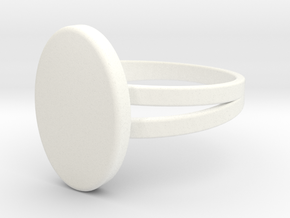 Customizable Signet Ring in White Processed Versatile Plastic