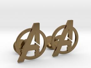 Avengers Cufflinks in Polished Bronze