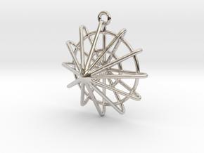 Solaris in Rhodium Plated Brass
