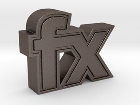 fx  in Polished Bronzed Silver Steel