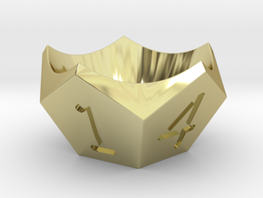Egg-cup in 18k Gold Plated Brass