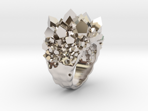 Double Crystal Ring Size 10 in Platinum