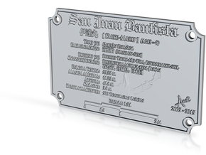 San Juan Bautista Plaque in Polished Bronze