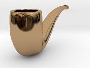 Pipe in Polished Brass