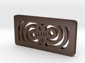 Titan Side Concentric - Closer to Laser in Polished Bronze Steel